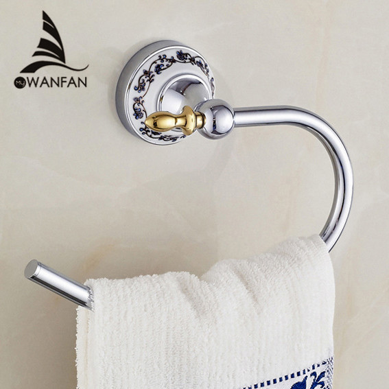 Towel Rings Chrome Metal Towel Bars Holder Towel Hangers Storage