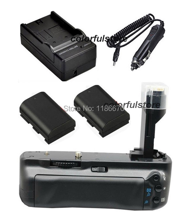 Battery Handle Grip Holder Vertical Power Shutter For Canon EOS 5D Mark II 2 5DII 5D2 Camera as BG-E6 BGE6+2 x LP-E6+Car Charger pro vertical battery grip holder for canon eos 760d 750d t6s t6i ix8 as bg e18