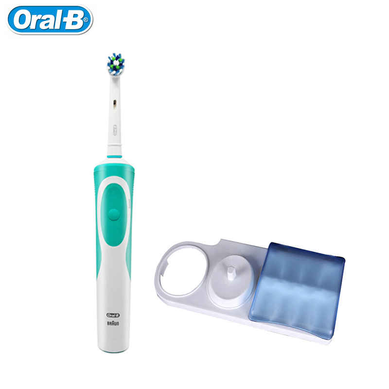 Oral B D12S Rotation Type Electric Toothbrush Teeth Whitening with Toothbrush Stand & Brush Head Cap Set