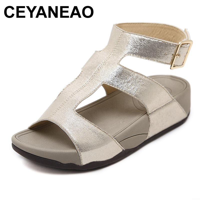CEYANEAO 2018 Summer women flat sandals Shoes white leather ballet slippers round toe fringe slides sandals female flip flops covoyyar 2018 fringe women sandals vintage tassel lady flip flops summer back zip flat women shoes plus size 40 wss765