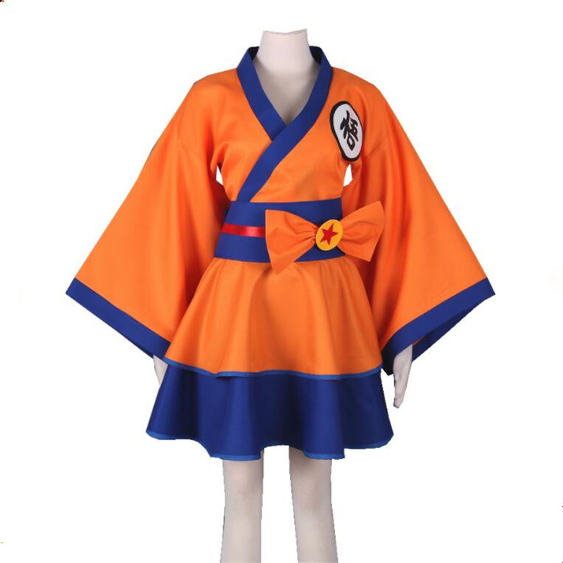 Anime Dragon Ball Z Son Goku Cosplay Costumes d'été dame robes femmes Lolita kimono surjupe
