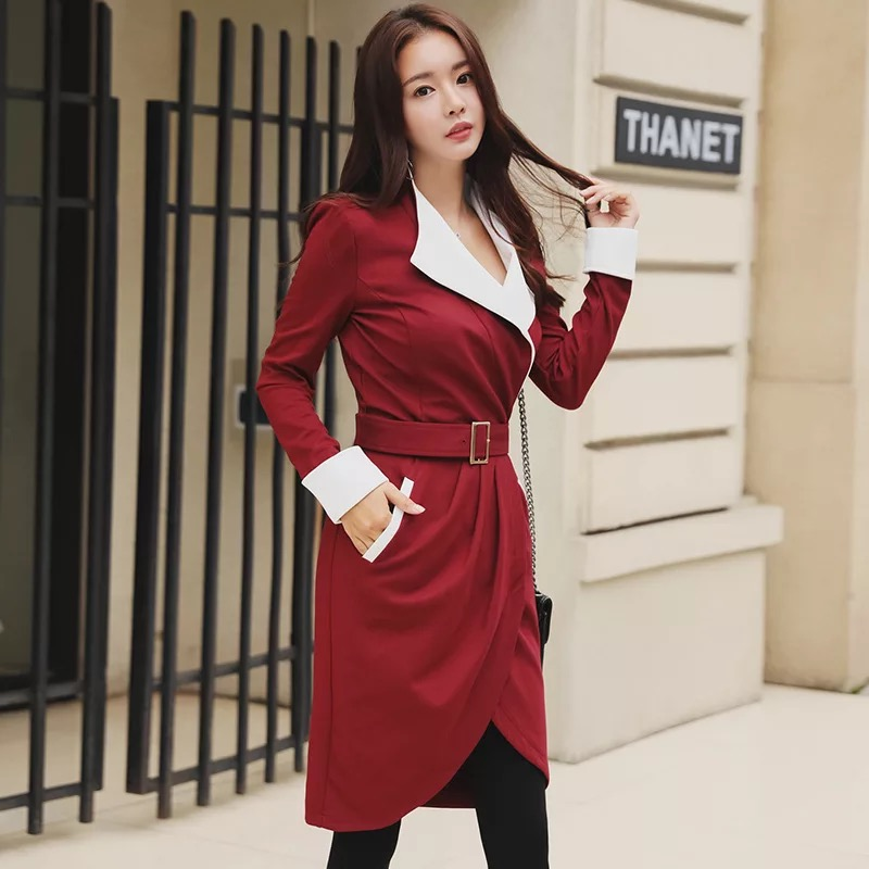 Fashion elegant slim high quality women dress new arrival korean party  dress OL sexy v neck comfortable asymmetrical dress -in Dresses from Women s  Clothing ... a60b1a785510