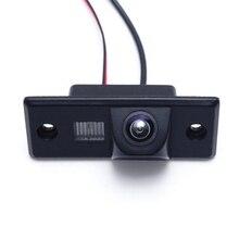 HD CMOS רכב אחורי תצוגת מצלמה לפולקסווגן גולף פאסאט Tiguan עבור סקודה עבור פורשה קאיין ראיית לילה אוטומטי הפוך מצלמה