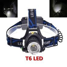 2200Lm CREE XM-L XML T6 LED Waterproof Head Light Lamp Zoomable Headlamp Headlight 3 Mode Lamp