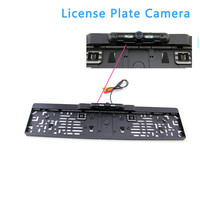 Auto Parktronic EU Car License Plate Frame Rear View Camera HD Night Vision Reverse Camera With
