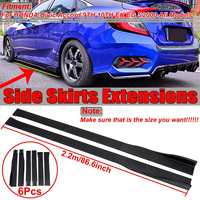 2.2m Universal Car Side Skirt Extensions For HONDA For Civic For Accord 9th 10th EK EG S2000 Side Skirt Bumper Splitters Wnglet