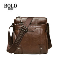 DISON BOLO Men Briefcase Business bags men pu leather Shoulder Bags Crossbody bags Messenger High Quality Famous Brand Casual