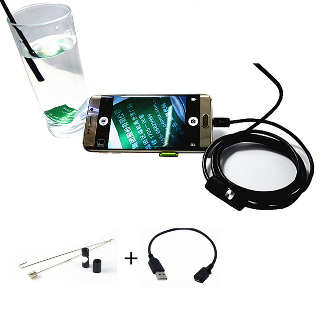 5.5MM 2M Mini Usb android Inspection endoscope Camera Underwater Endoscopio Tube snake Micro-cameras For PC Android Phone car