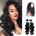 360 Lace Frontal With Bundle Pre Plucked Brazilian Virgin Hair With Closure Body Wave 360 Lace Frontal Closure With Bundles
