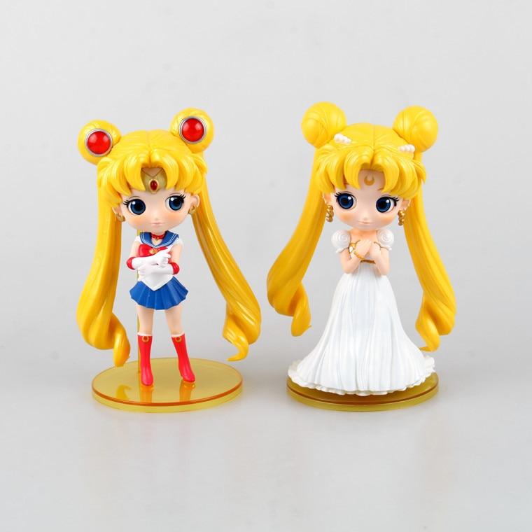 Anime Sailor Moon Figure PVC Model Chibiusa Chibi usa Figures Tsukino Mars Cute Kawaii Sailormoon Toys Sailor Moon Action Figure sailor moon 13cm toys action figure brinquedo toy 1939 kids christmas gift free shipping