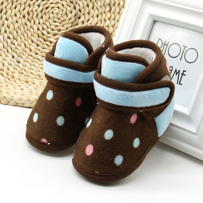 New Kids Baby Girls Warm Winter Shoes Boots Newborn Toddler Infant Keep Warm Non Slip Booties Prewalker Shoes Bebe Warming Boots