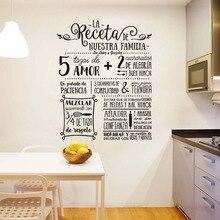 Наклейки La Receta Дизайн Виниловая наклейка на стену фреска художественные обои Nuestra Familia домашний Декор украшение дома плакат 58 см x 74 см
