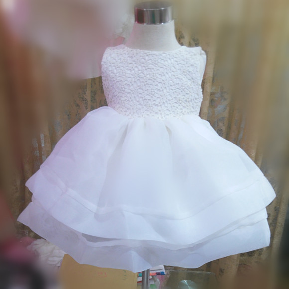 Tp 1 Baby Dress Clothes White Baby Christening Gown Pattern1 2