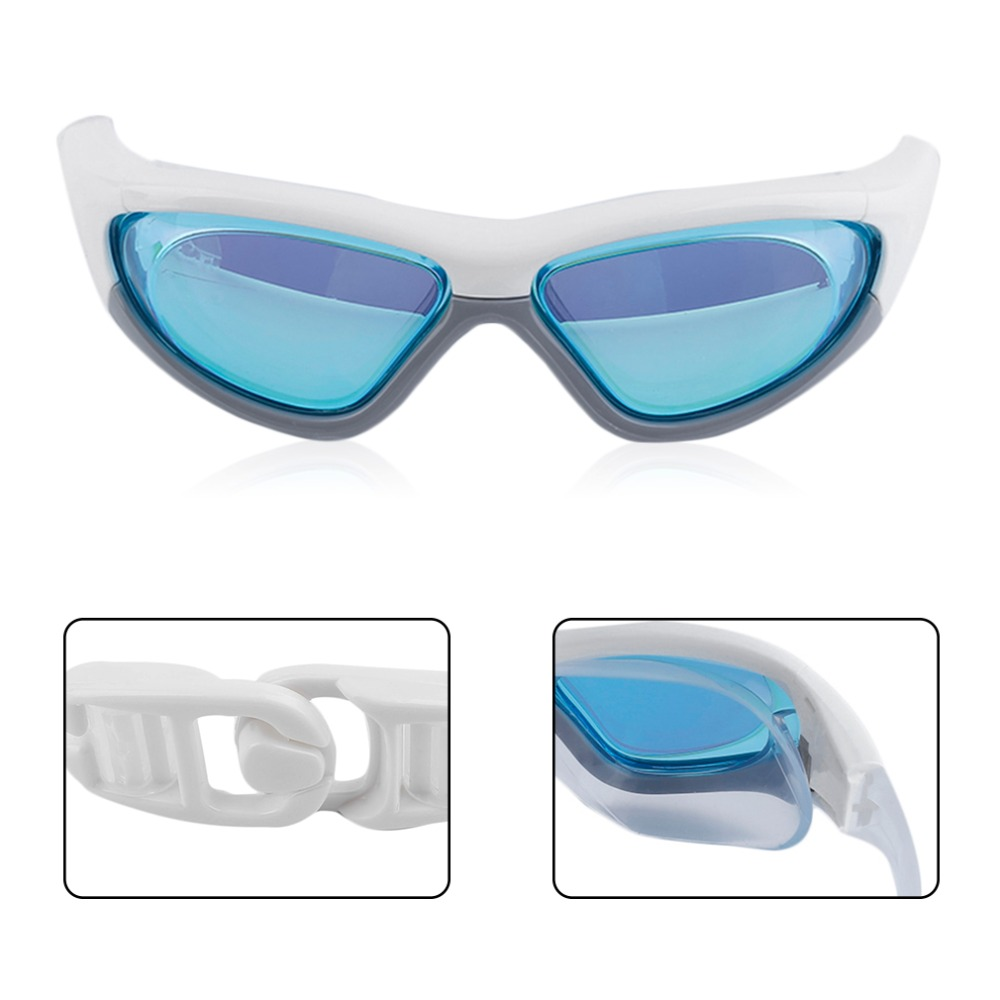 Profesional Anti-Niebla anti-Ultravioleta Gafas de Natación Ajustables Hombres M
