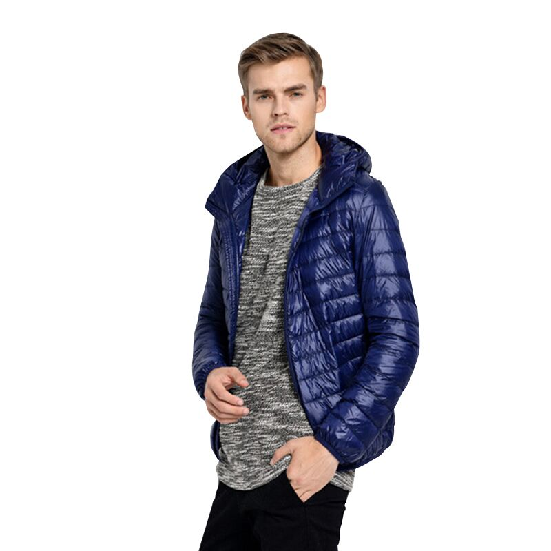 3 Color Ultralight Down Jackets Men Autumn Winter Mens Causal Hooded And White Duck Down Jacket Coats jaqueta masculino Parka