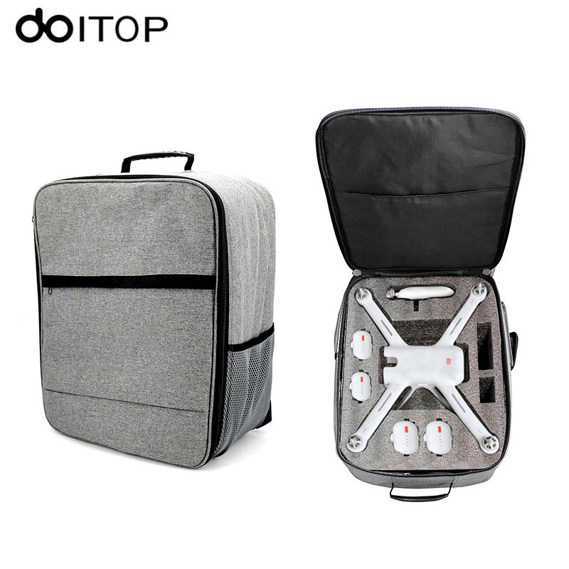 DOITOP for XIAO MI UAV Drone Backpack Storage Bag Outdoor Waterproof Carry Bag Handbag for Xiaomi 4K RC Quadcopter Accessories # backpack bag easy carry case for yuneec q500 4k q500 typhoon uav special customize quadcopter for aerial drones nylon shoulder