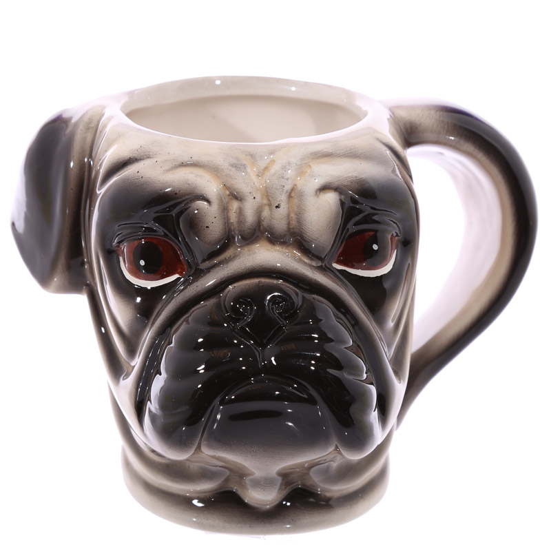 350ML 3D Coffee mug Pug Head Coffee Cup Cute Puppy Dog Head 1Piece
