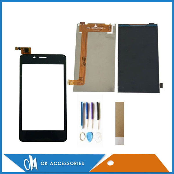 Pantalla táctil separada de 4,5 pulgadas para Fly FS458 FS 458 con pantalla LCD de repuesto nuevo Color negro con cinta de herramientas
