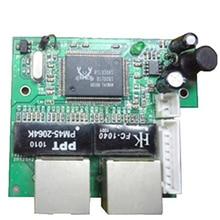 工場直接ミニ高速 10/100 mbps 2 ポートイーサネットネットワーク lan ハブスイッチボード 2 層 pcb 2 rj45 1 * 8pin ヘッドポート