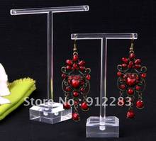 De Bijoux 10Sets Band Clear Organic Glass Earring Jewelry Holder Display Stand, Fashion Jewelry Display(China)