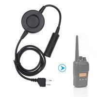 kenwood רדיו U94 טקטי אוזניות PTT Plug עבור KENWOOD מכשיר הקשר ICOM מידלנד מוטורולה רדיו צבאית טלפון מתאם אוזניות (2)