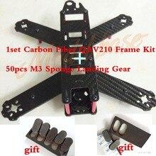 1set Carbon Fiber QAV210 Frame Kit + M3 Sponge Landing Gear Mini FPV Drone Racing Quadcopter