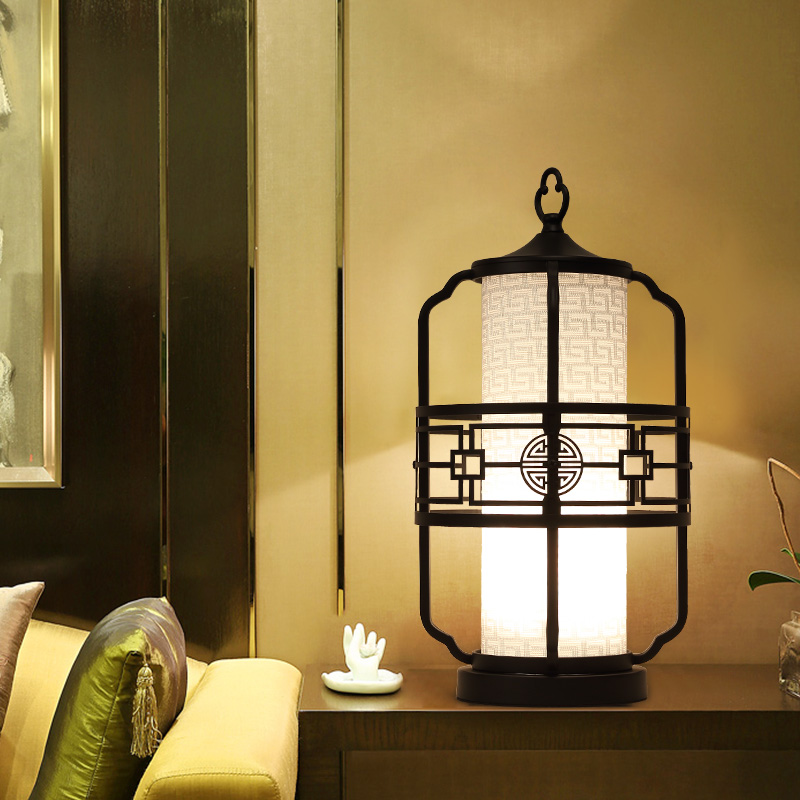 Китайский стиль настольные лампы спальня гостиная ночники Классическая Ретро античный декоративный светильник Исследование отель настол...