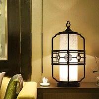 Китайский стиль настольные лампы спальня гостиная ночники Классическая Ретро античный декоративный светильник Исследование отель настол