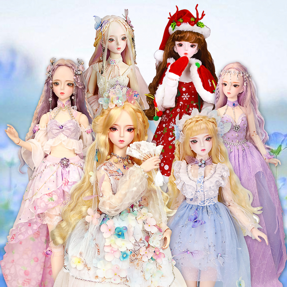 DBS 1 3 BJD Doll Toys 62cm DF Fashion Princess dolls joint body Gorgeous clothes and