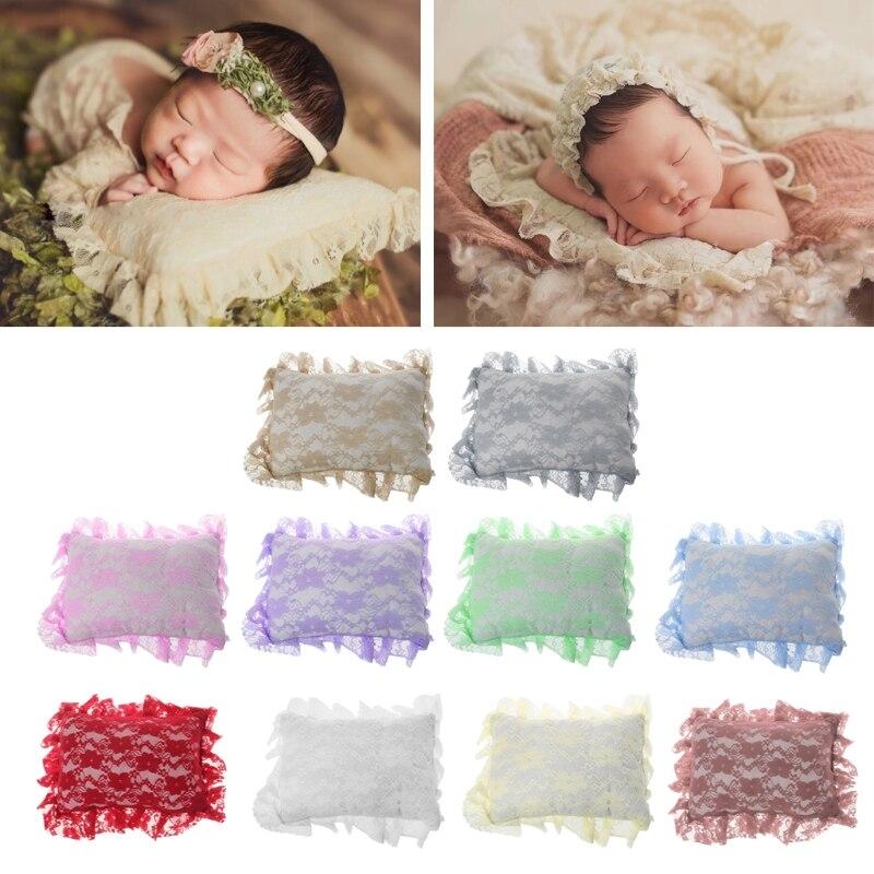 2018 nouveau-né bébé affichage oreiller Crochet dentelle douce positionneur oreiller photographie accessoires infantile Studio Photo Shoot Props-M20