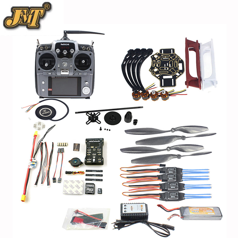 купить JMT DIY FPV Drone Quadcopter 4-axle Aircraft Kit 450 Frame PXI PX4 Flight Control 920KV Motor GPS AT10 Transmitter Props недорого