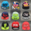 Fashion Letter Kids Cartoon Hip Hop Snapback Baseball Caps Hats for Children Student Sport Hats 3-10 Year Old Wholesale Unisex