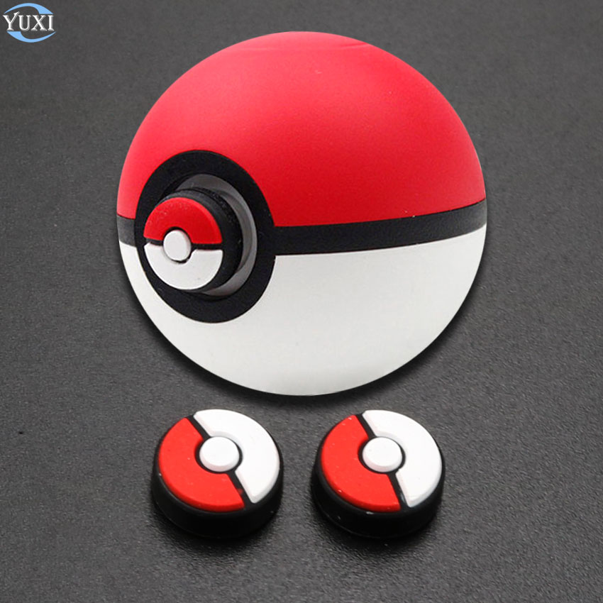 YuXi 2pcs Analog Stick Grips Cap Joystick Cover For Nintend Switch NS Controller For Poke Ball Plus Pokeball Game Case