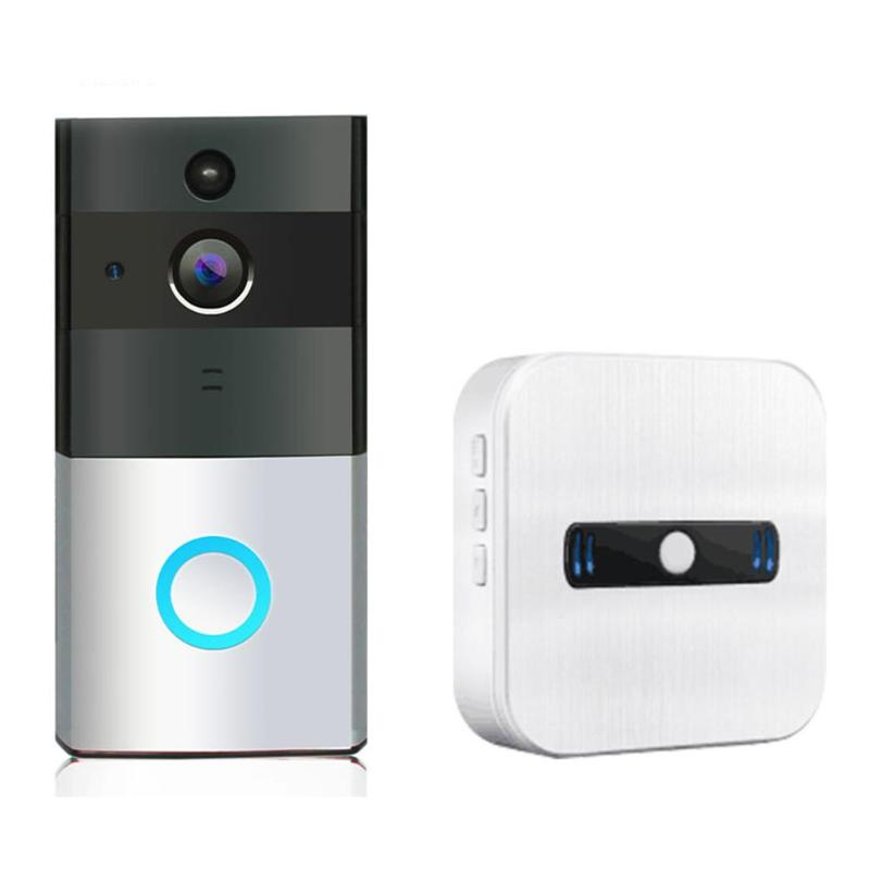 Wireless WiFi Video Doorbell PIR Motion Sensor IP Camera Intercom Kit Door Phone Intercom Home Security,Support IOS Android ...