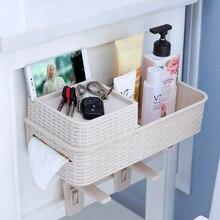 Plastic Bathroom Toilet Bowl Sundries Organizer Storage Rack Wall Hanging Shelf Space Saver