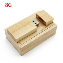 USB Flash Drive Maple Wood Photo Album Box Portable Storage Device Universal USB2.0 Memory Stick For Laptops Notebook 8/16/32/64