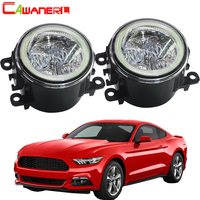 Cawanerl 2 X Car Front LED Lamp Fog Light Angel Eye Daytime Running Light DRL 12V Accessories For 2005 2013 Ford Mustang