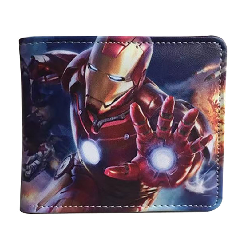 New Ironman Leather Wallets Anime The Avengers Captain America Superman Batman Spiderman Deadpool Purse Gifts Teenager Wallet dc marvel comics anime purse super hero deadpool wallet avengers superman captain america batman iron man leather short wallets