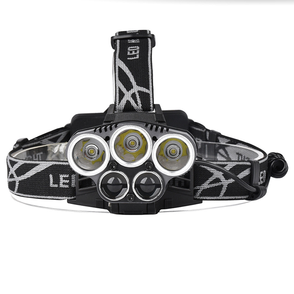 camping survival Camping light 50000LM 5x XM-L T6 LED Rechargeable USB Headlamp Head Light Zoomable Mountaineering outfit