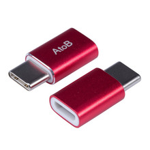 Mini USB 3.1 Type C Male to MicroUSB Female Data Charger Aluminum Adapter USB-C Type-c Cable Converter for Macbook12″oneplus 2