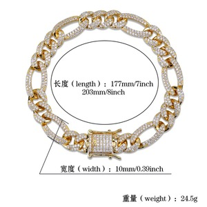 Image 5 - TOPGRILLZ Gold Silver Color Iced Out Cubic Zircon Cuban Chain Link Bracelet Men Hip Hop Charm Trend Jewelry Gifts