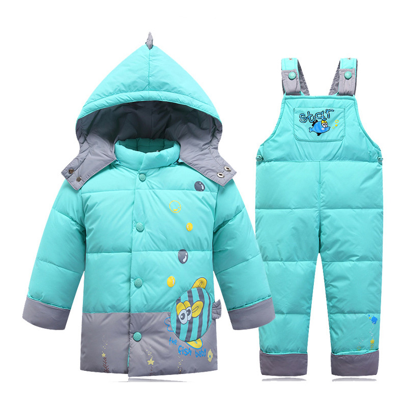 New European Winter Jackets Overalls For Boys,Thick Baby Infant Boy Snowsuits Clothes Sets,Full Sleeve Warm Children Coat DYR003