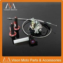 PZ30 30mm Carburetor Power Jet Accelerating Pump+Visiable Throttle Twister+Dual Cable IRBIS+Pro taper Grips