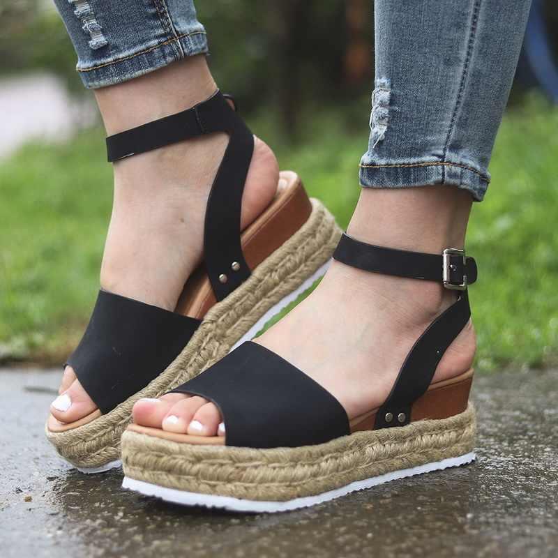 Oeak Frauen Sandalen Plattform Sandalen Sandalia Frauen Keile Schuhe High Heels Sandalen Chaussures Femme Pumpen Sommer Tropfen Verschiffen