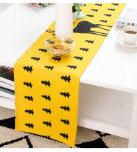 Simple Fashion Black And Yellow Table Runners Cotton Fabric Bed Decorative Table Runner Home Decor(China)