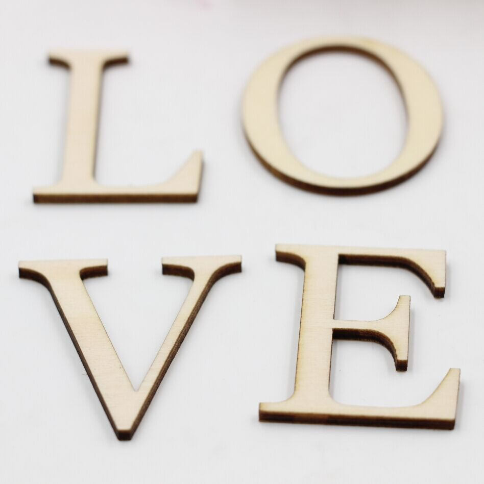 2 inch wooden letters