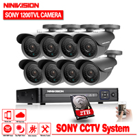8CH HDMI DVR SONY 1200TVL Outdoor Waterproof CCTV Camera Home Security Camera System 8CH DVR Kit
