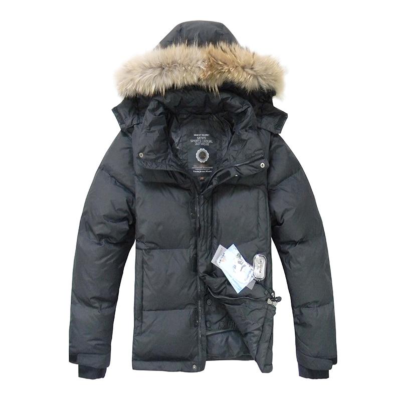 2019 Hot Sale Mens Duck   Down   Jacket Winter   Down     Coat   Raccoon Fur Waterproof Hooded   Down   Jackets Mens Winter Jacket Free Shipping
