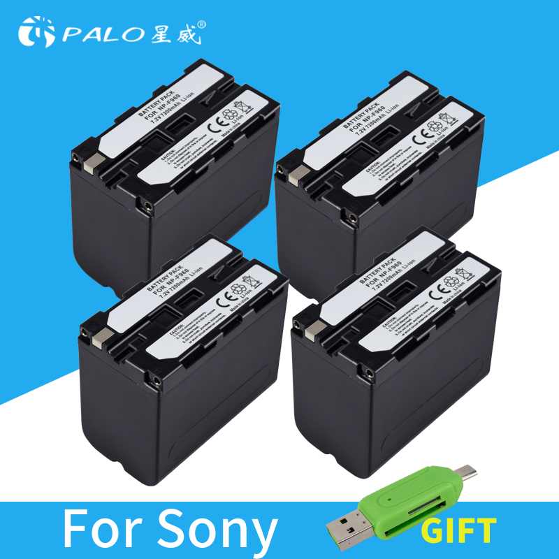 4pcs 7200mAh NP-F960 NP-F970 NP F960 NP F970 Camcorder battery For Sony NP-F550 NP-F770 NP-F750 NP F770 NPF960 NPF970 Wholesale