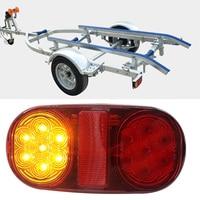 2Pcs 12V 24LED Car Truck LED Rear Tail Lamps for Trailer Caravans Turn Signal Lights brake ligh with License Number Plate Light